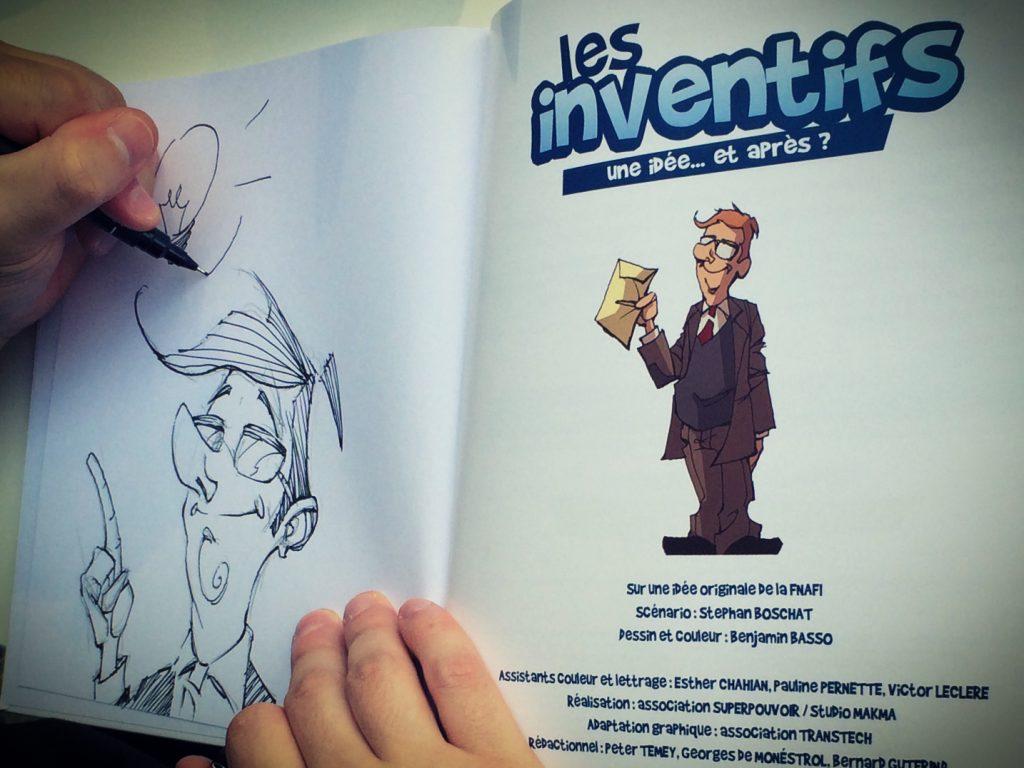 Ben Basso en dédicace pour les Inventifs (Photo : Stephan Boschat) - Flibusk