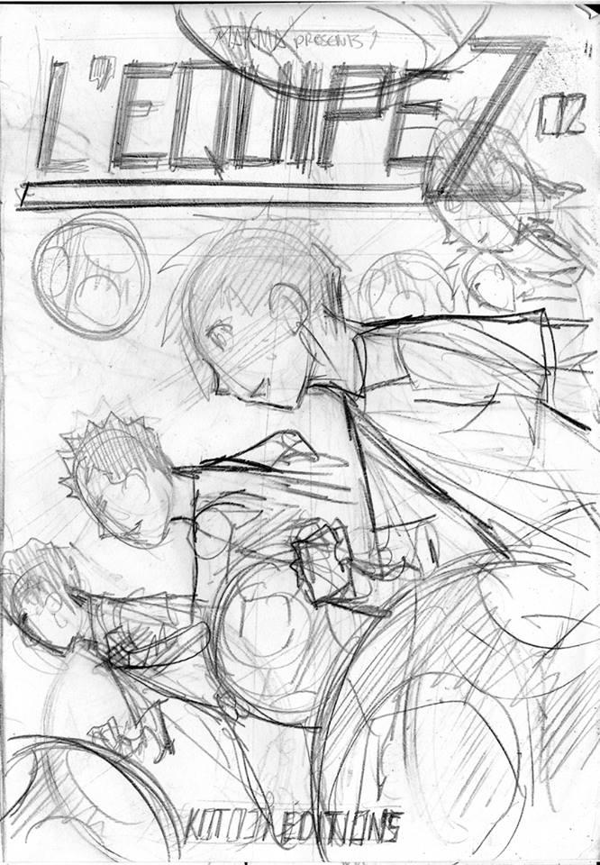 couverture L'Équipe Z, tome 2, 1er essai (Dessin : Albert Carreres) - Flibusk