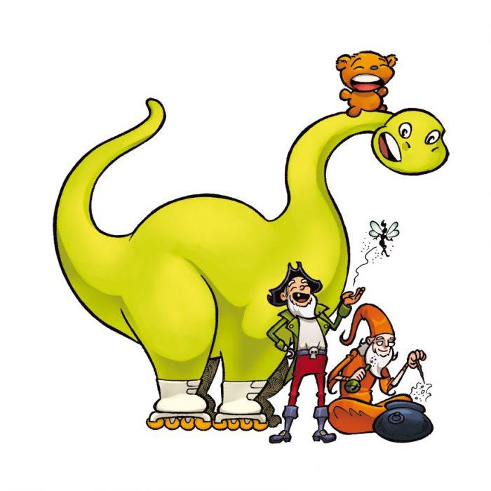 Les créatures imaginaires- La Brigade des Inventifs (Dessin : Samuel Ménétrier) - Flibusk