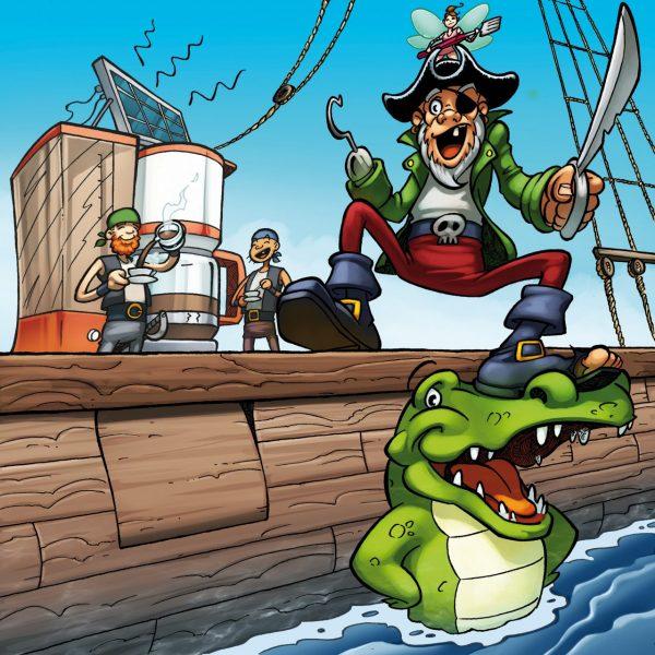 Pirate de la cafetière - La Brigade des Inventifs (Dessin : Samuel Ménétrier) - Flibusk