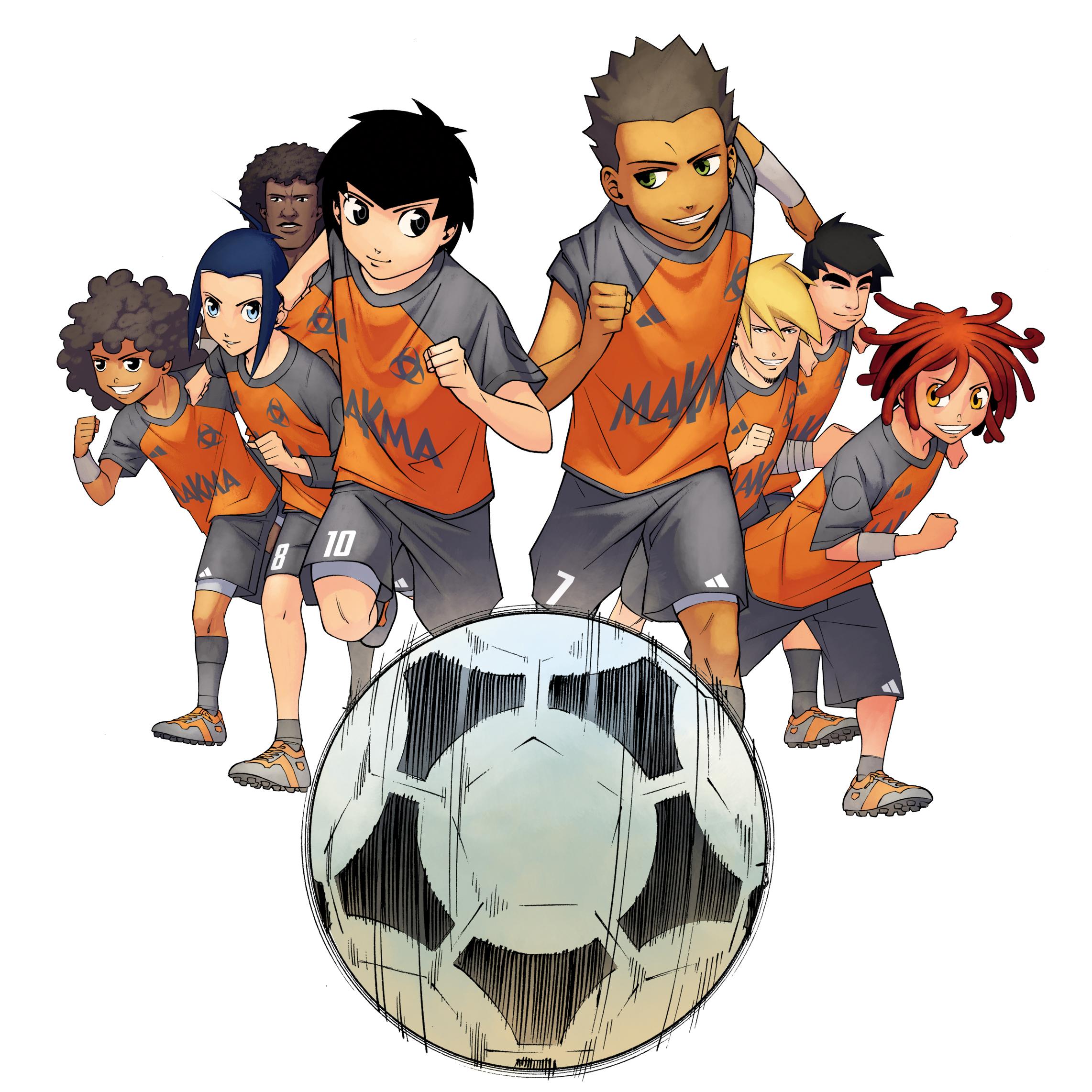 L 39 quipe z bient t le tome 2 du manga foot flibusk - Dessin equipe de foot ...