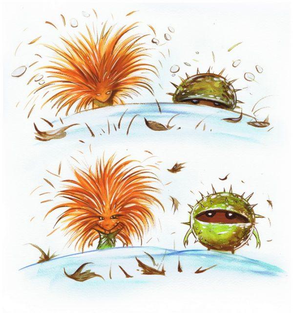 Châtaigne et les Zombinons - page 3 (Dessin : Denis Lapierre) - Flibusk