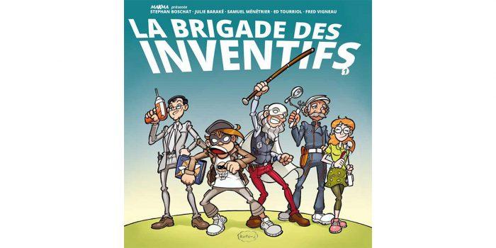 La Brigade des Inventifs, couverture